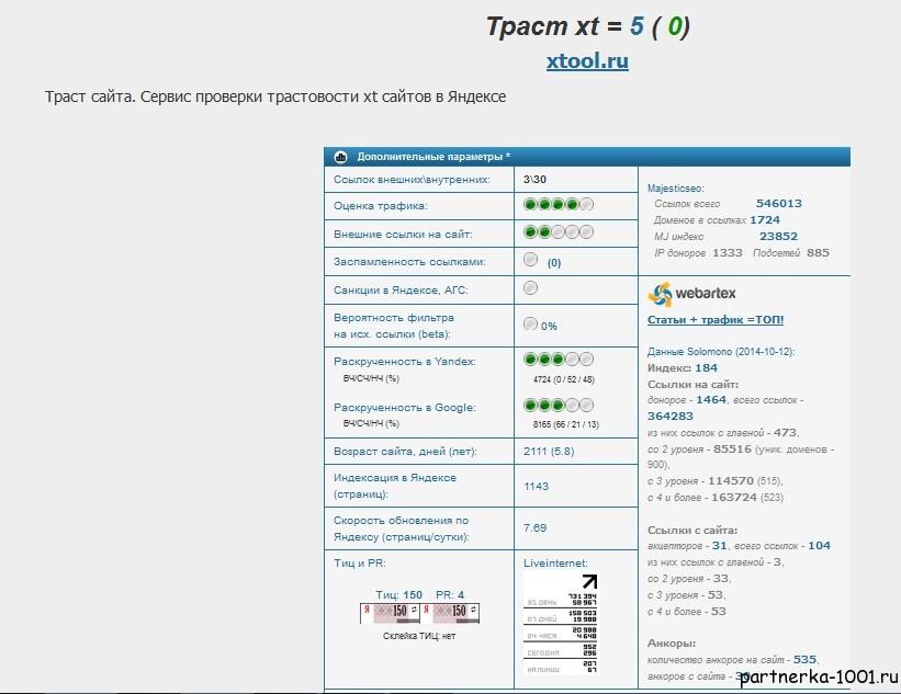 XTOOL — бесплатный seo-анализ сайта -7